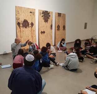 מפגש גלריה על הקשר בין ציור וסאונד בתערוכה לחש 23.10.21
